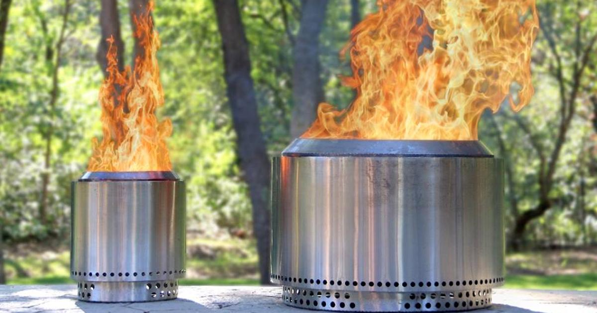 Yukon fire pit fans the flames for clean-burning fun
