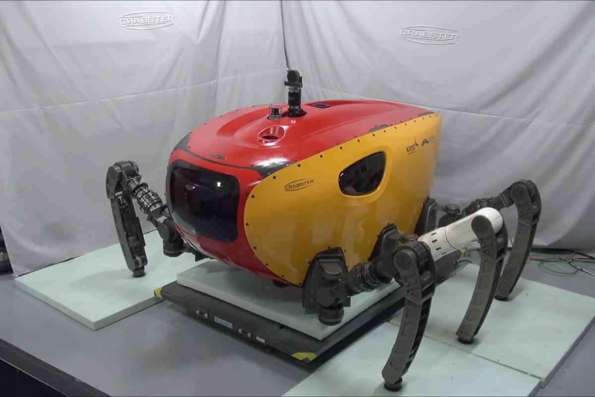 KIOST's Crabster, about the size and weight of a Smart car, will explore shallow seas despite violent currents