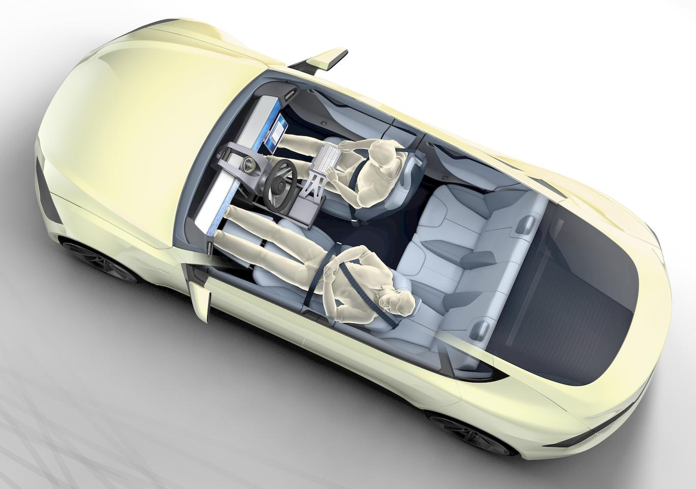 The Rinspeed XchangE concept's focus is on the interior of a fully autonomous car