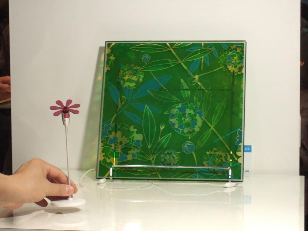 Sony's dye-sensitized solar cell windows combine smart engineering with beautiful screen printing