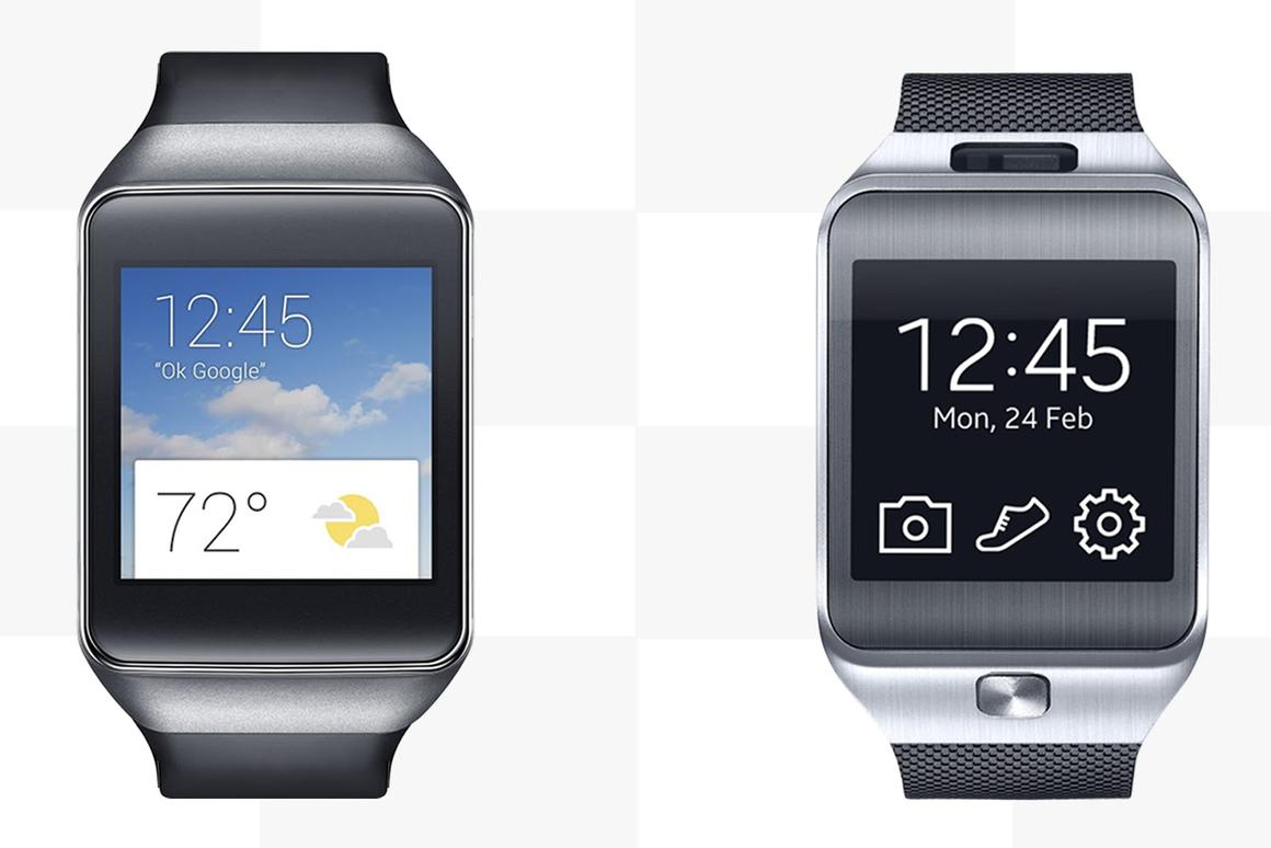 It's Android Wear vs. Tizen, as Gizmag compares the features and specs of the Samsung Gear Live (left) and Gear 2 smartwatches