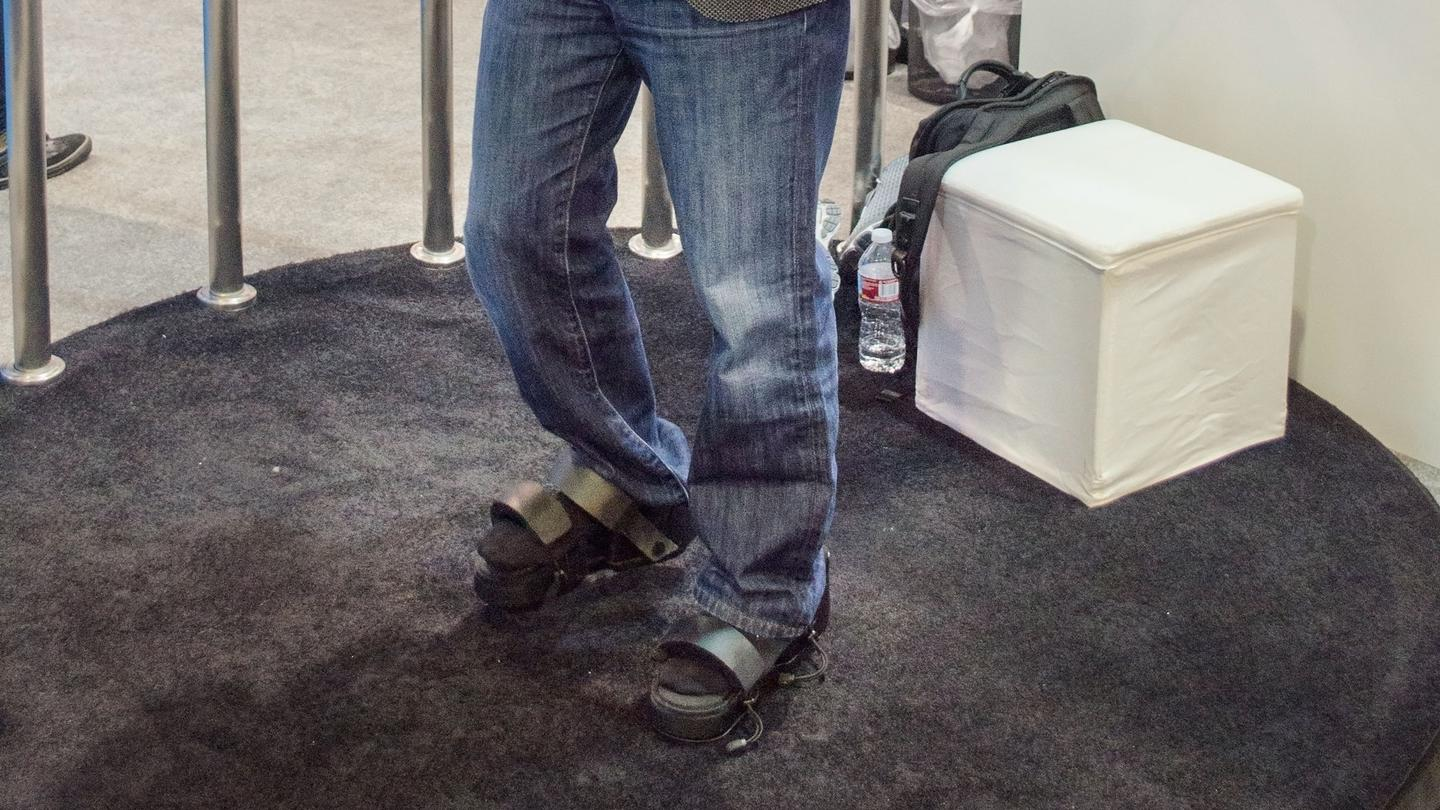 New Atlas demos the haptic feedback VR boots that only the foot-obsessed could love