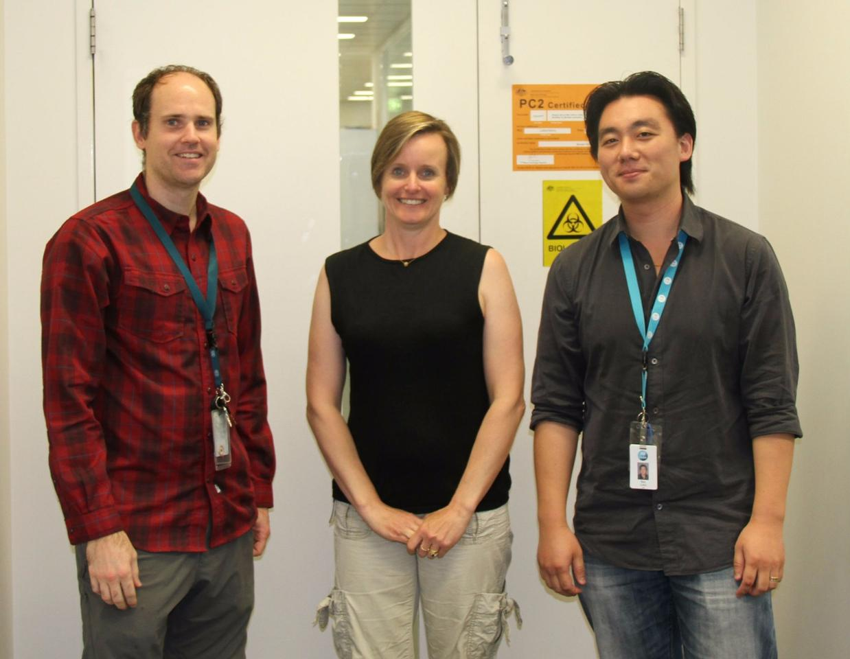 CSIRO's Dr Chad Heazlewood, Dr Susie Nilsson and Dr Ben Cao