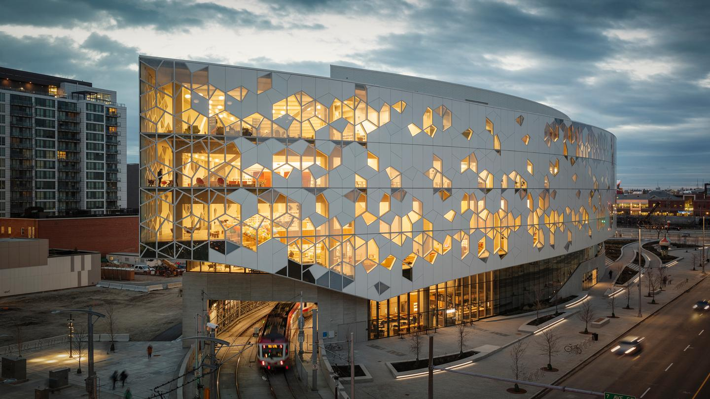 Canada's Calgary Central Library was designed by Snøhetta and Dialog
