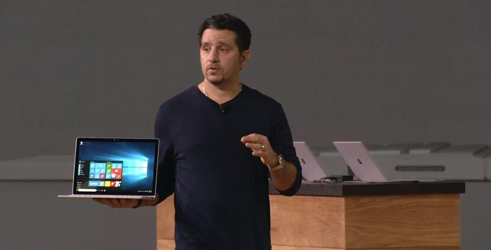 Microsoft's Panos Panay with Surface Book