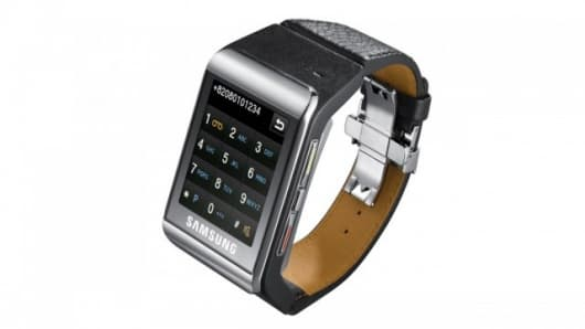 The Samsung S9110 watch phone