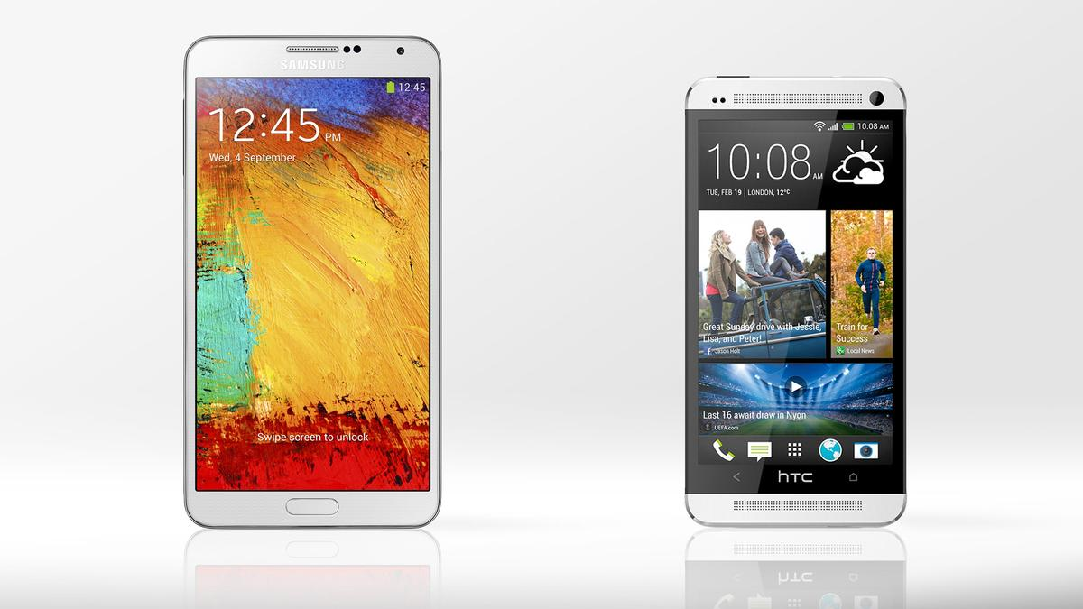 Gizmag compares the features and specs of the new Samsung Galaxy Note 3 and HTC's looker of a flagship, the One