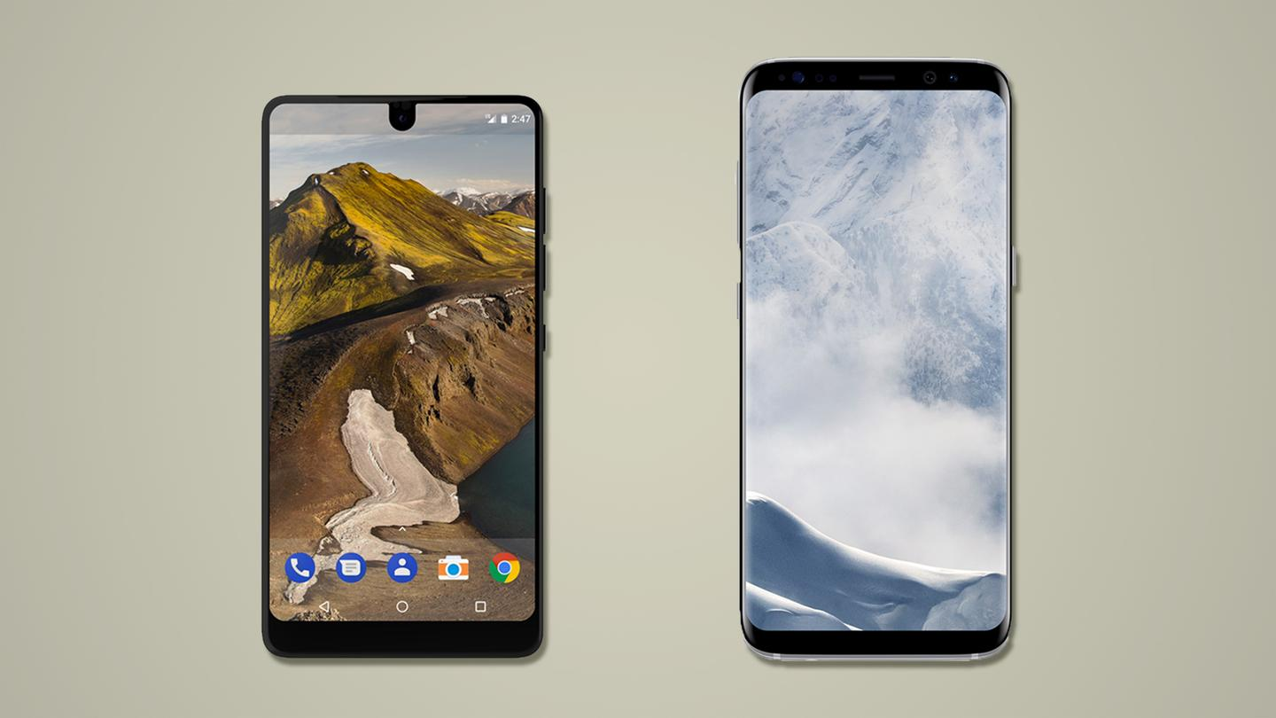 Here's how the EssentialPhone, created by one of the co-creators of Android, compares to the Samsung Galaxy S8 and S8+, thecurrent top-of-the-line Android flagships