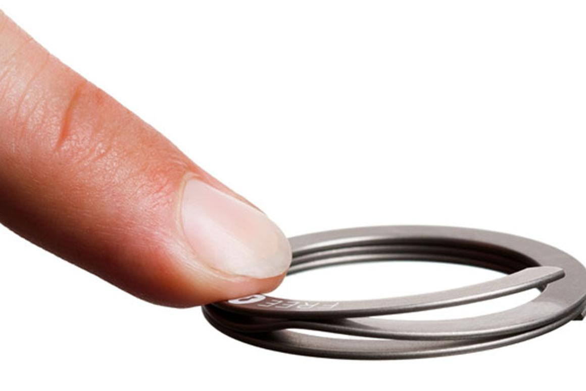 The Freekey keyring opens with a push
