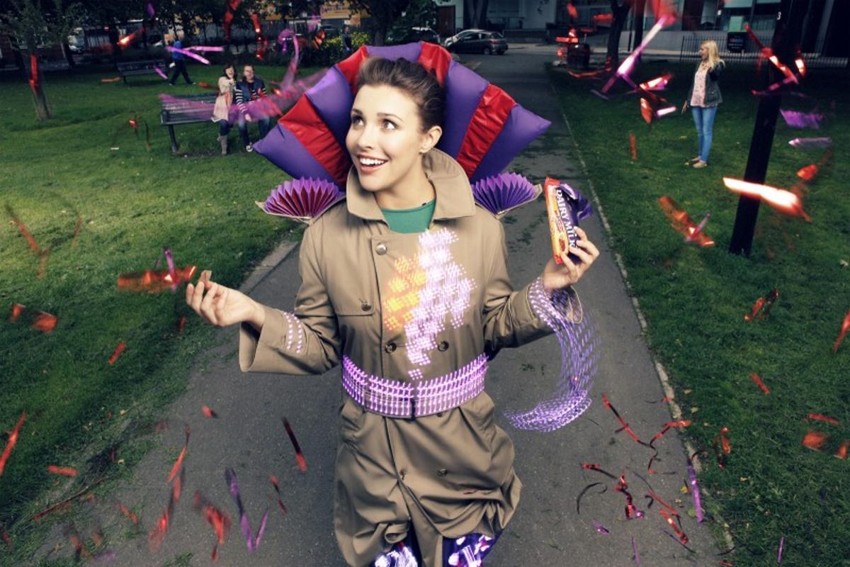 "Joy Jackets were built as part of Cadbury's ""Joyville"" campaign (Photo: Akio-Style)"