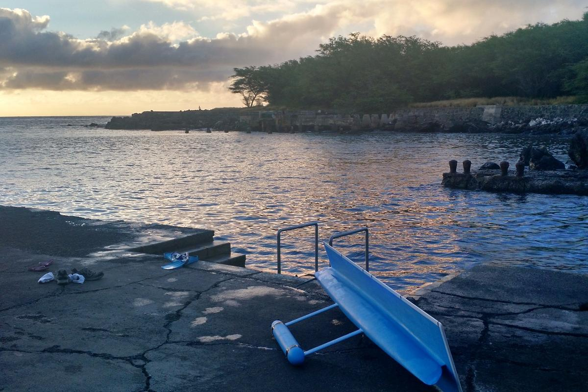 The SeaCharger takes a well-earned rest after its epic 2,413 mile solo voyage from California to Hawaii