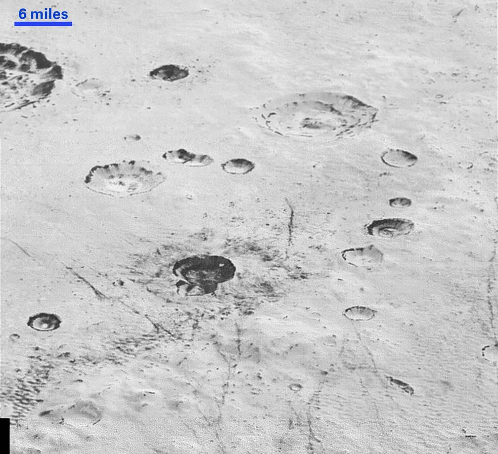 Pluto's rugged, icy cratered plains