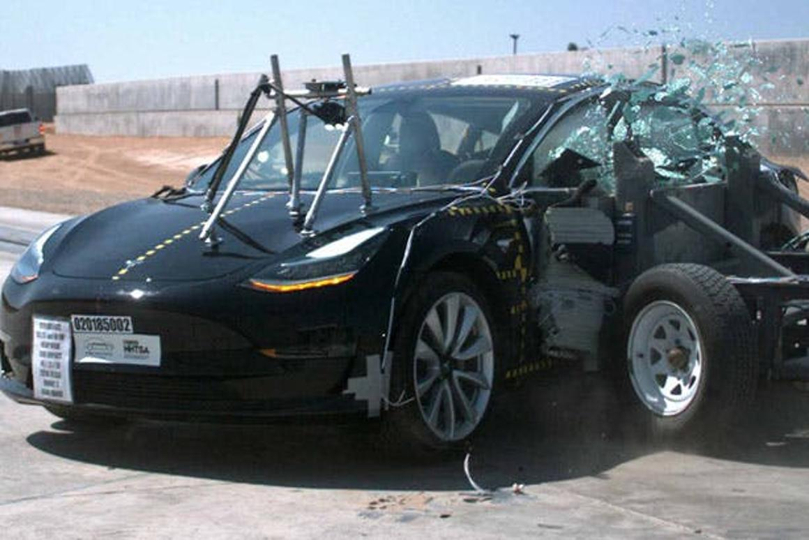 """According to Tesla, the numbers are in and show that people inside a Model 3 are less likely to be seriously hurt incrashes """"than any other car"""""""
