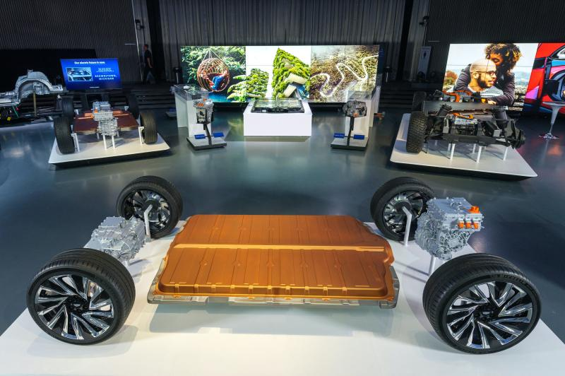GM's platform for EVs highlights the company's proprietary Ultium battery cells