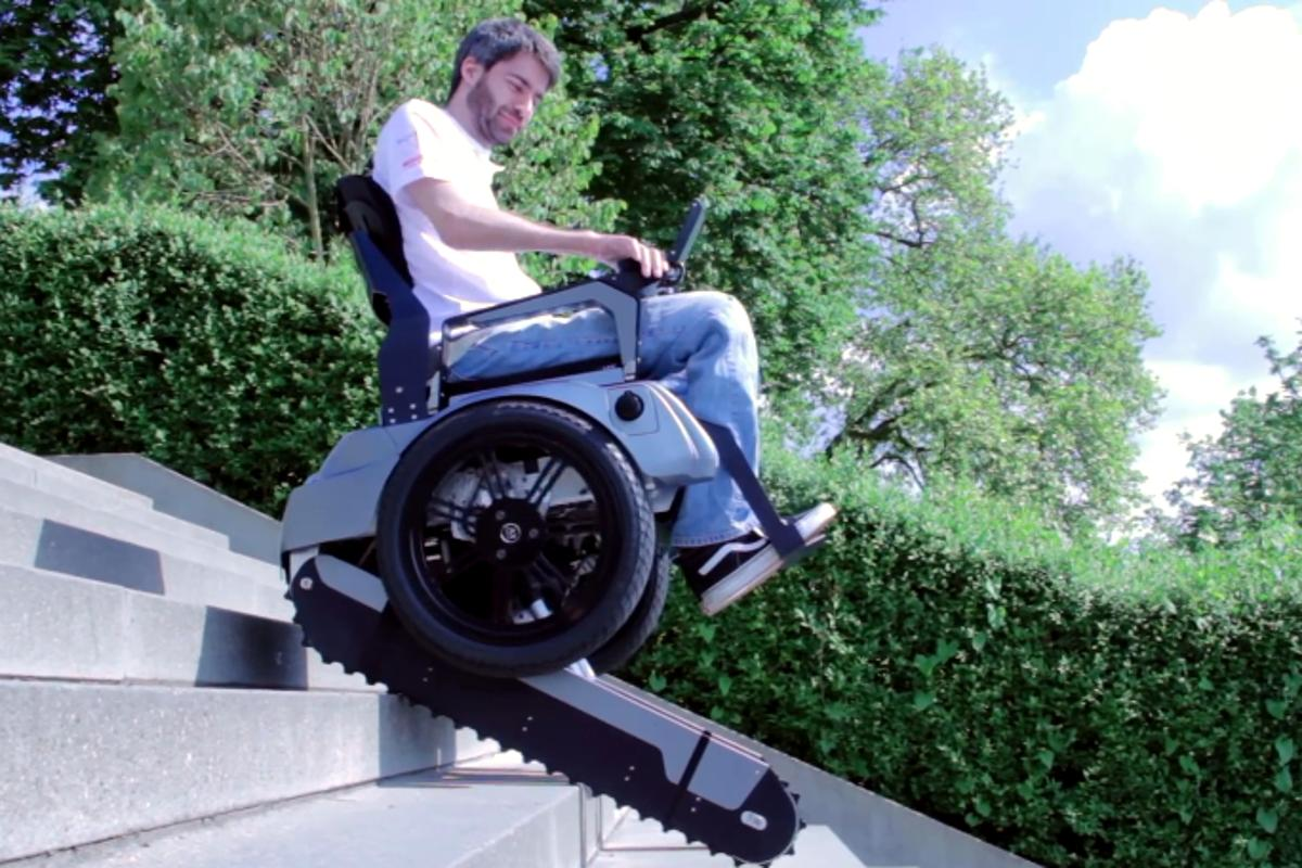 The Scalevo wheelchair at its first public demo