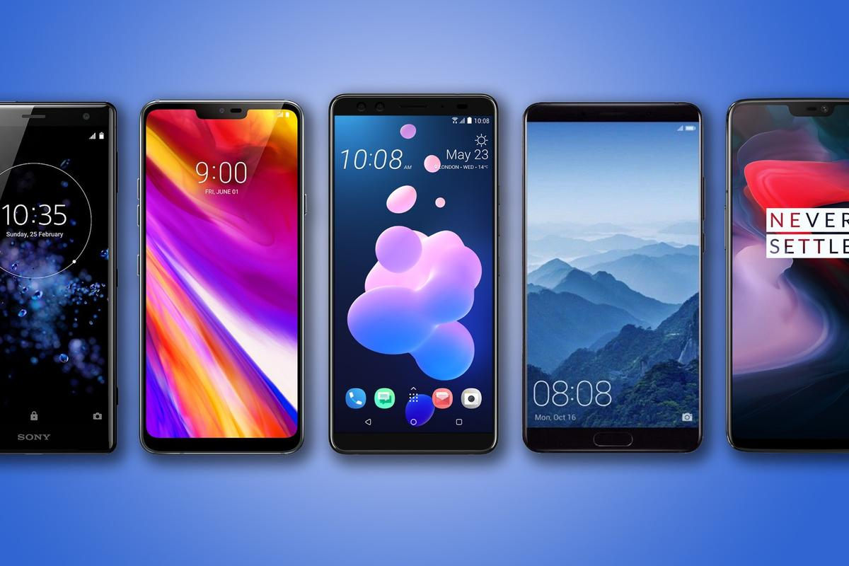 New Atlas rounds up the specs and features of five of the best alternative phones: Sony Xperia XZ2, LG G7 ThinQ, HTC U12+, Huawei Mate 10 Pro and OnePlus 6