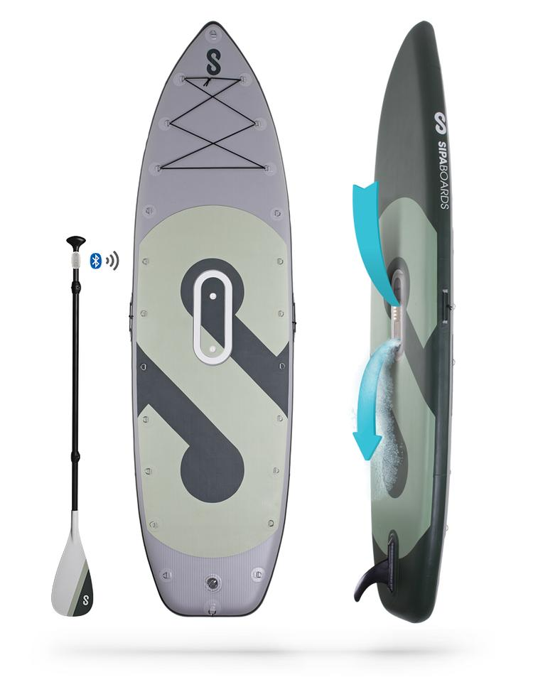 The SipaBoards Fisherman features the same basic design as its predecessor, but is larger to account for carrying extra fishing gear