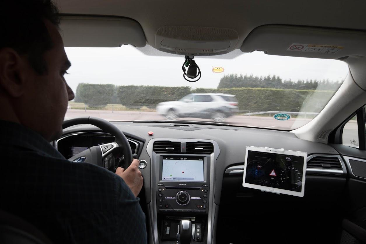 A look inside a Ford fitted with the prototype connected technologies