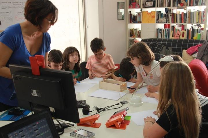 Hybrid Play led kids in designing games and play testing the sensors