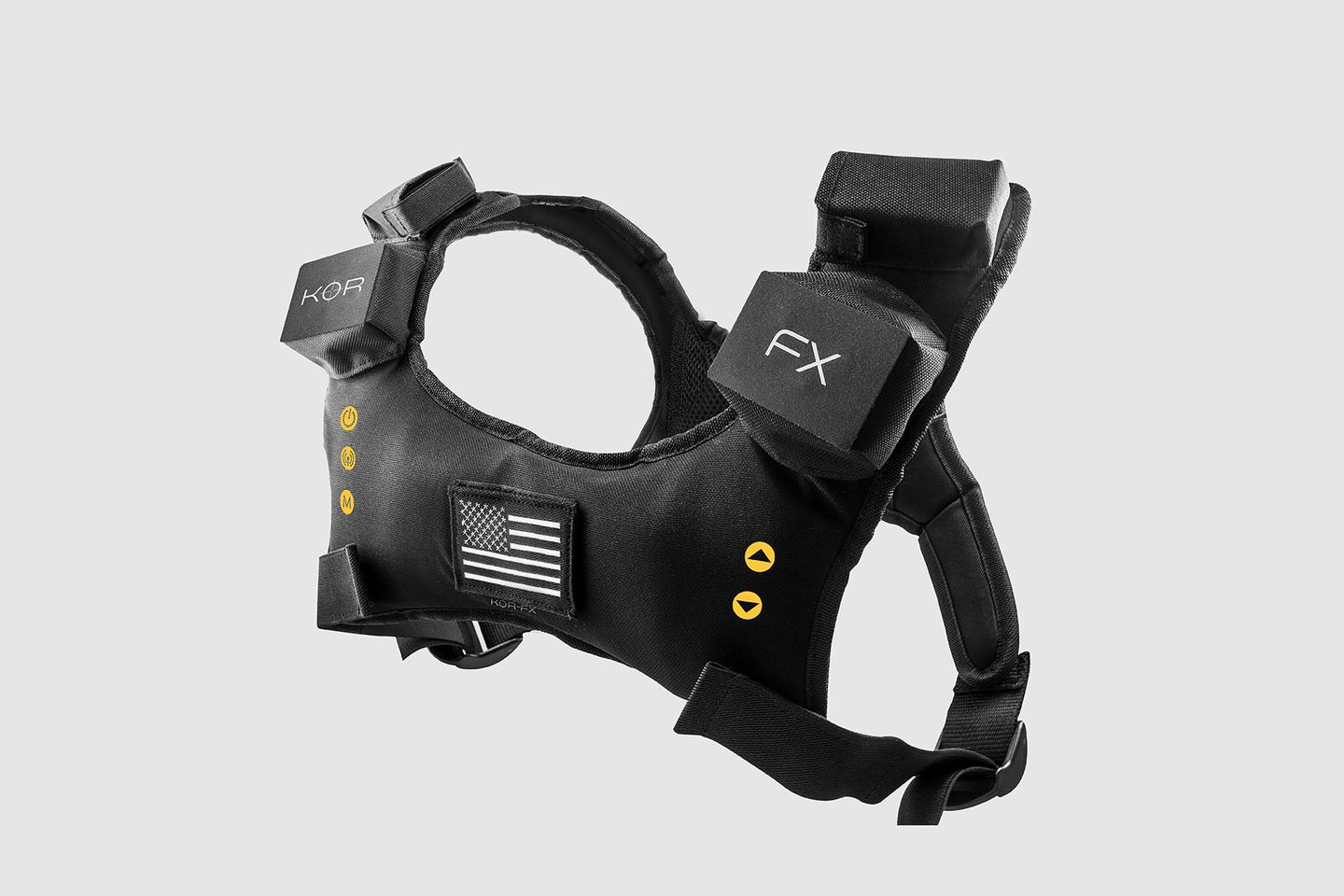 The KOR-FX 4DFX haptic gaming vest has been in development for five years.