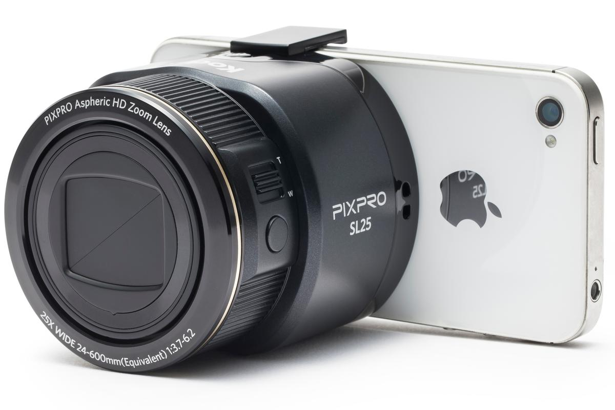 The Kodak PixPro smart lens cameras are similar to the Sony QX devices