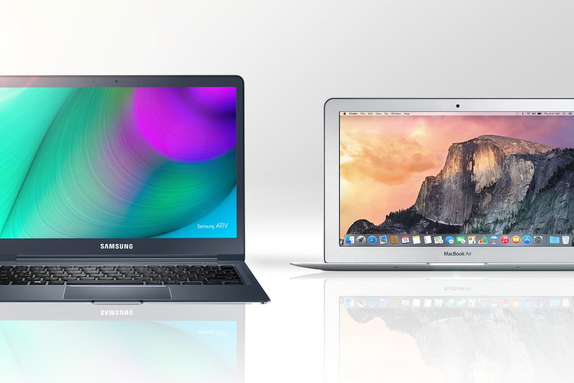 Gizmag compares the features and specs of Samsung's latest Ativ Book 9 Ultrabook with last year's 11-in MacBook Air