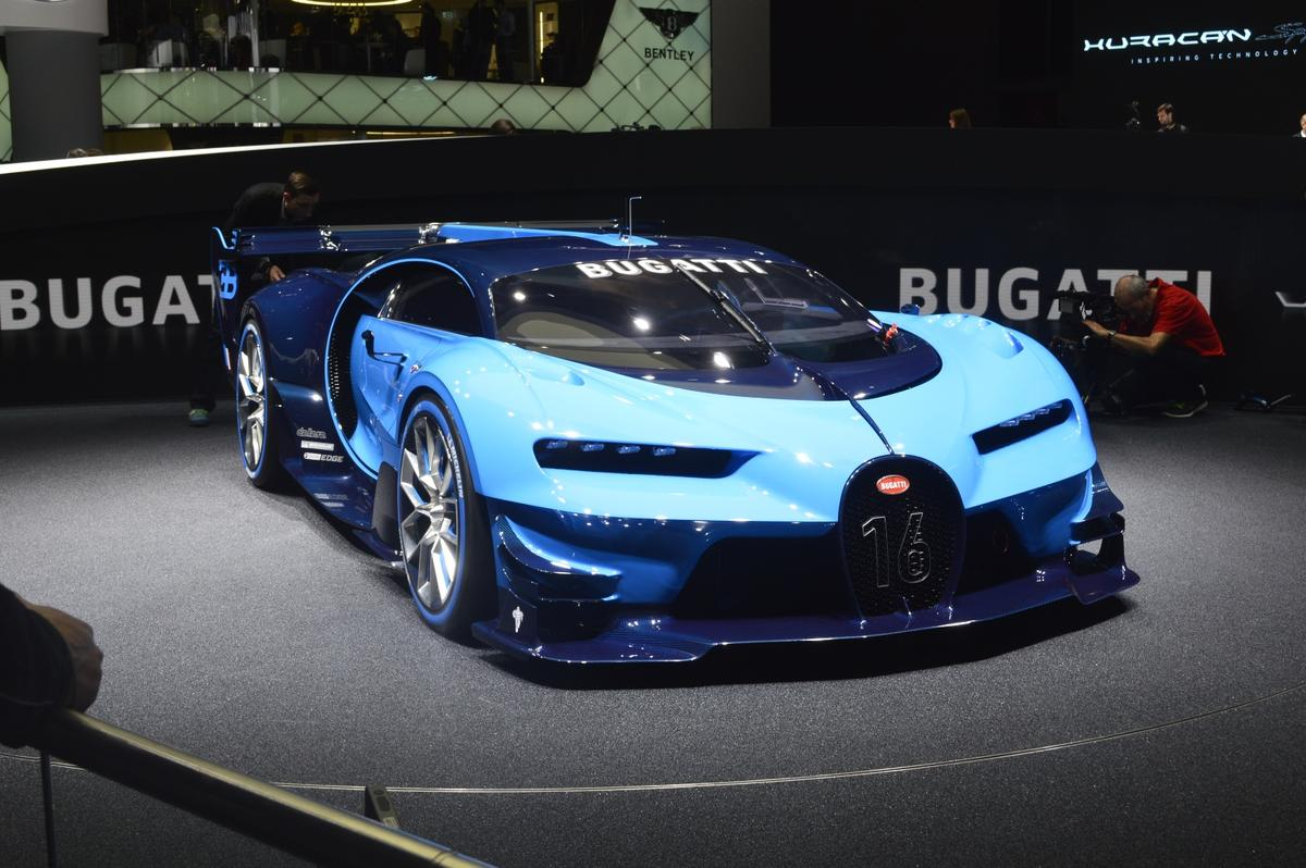 Bugatti revealed the Vision Gran Turismo at the Frankfurt Motor Show in September