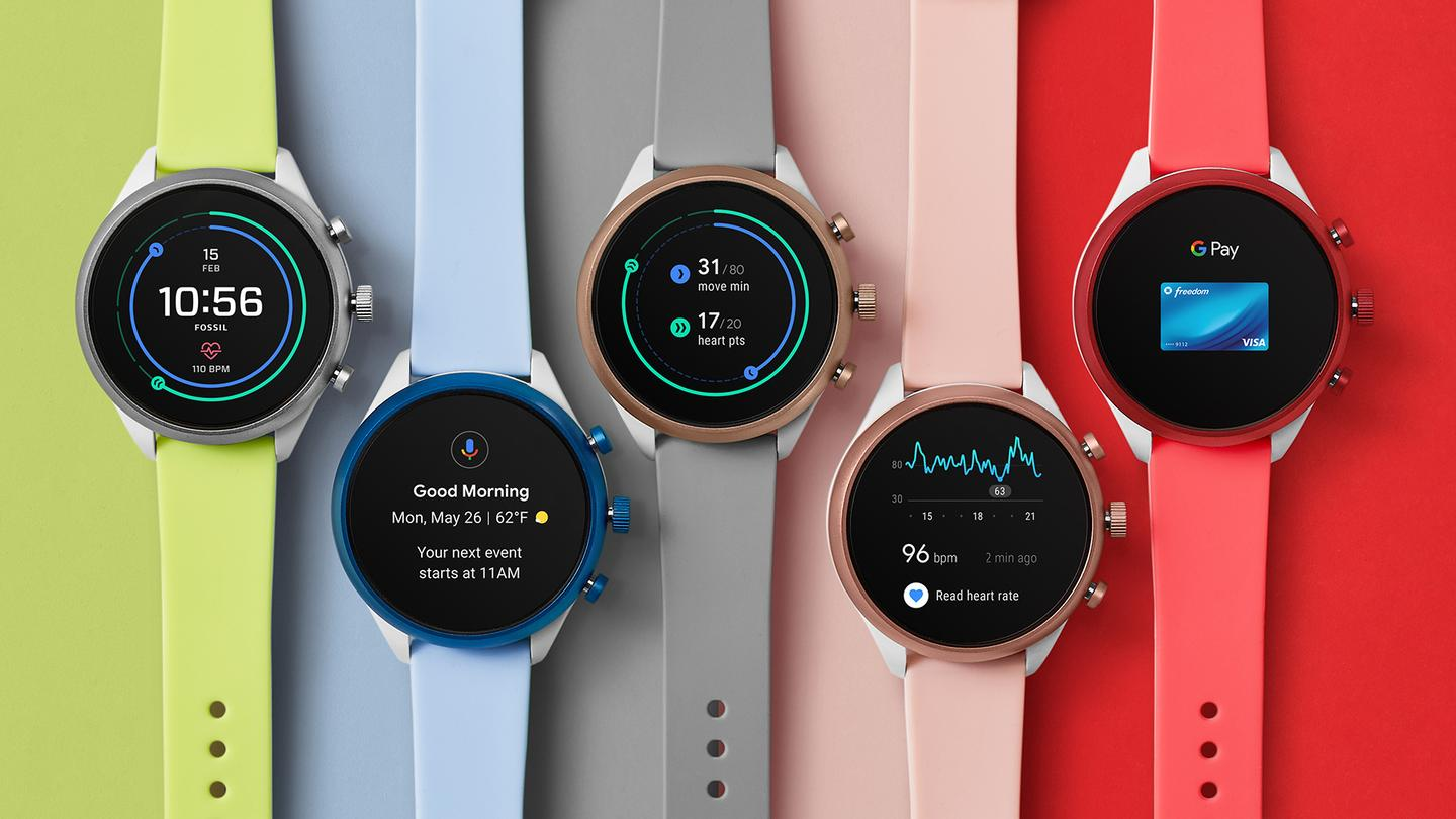 The Fossil Sport comes with a choice of six colors and 28 straps