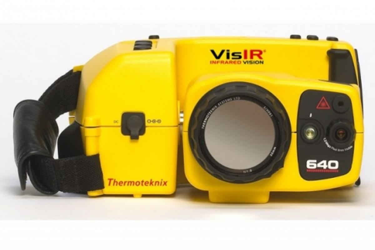 Front view of The Thermoteknix VisIR 640 Thermal Imaging Camera.