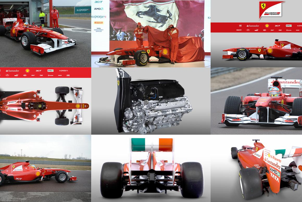 Ferrari unveils 2011 F150 Formula One car with hydraulically