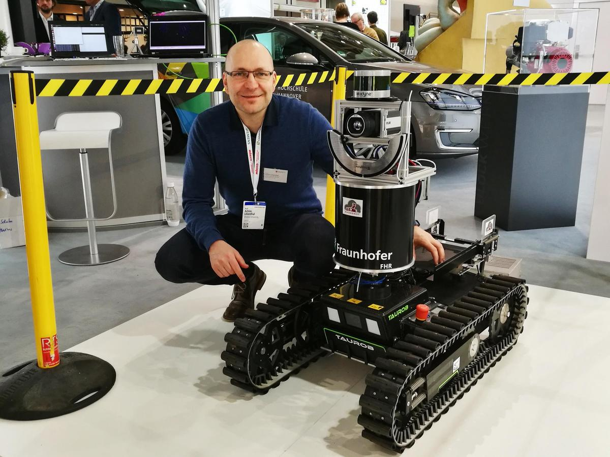 Prof. Achim Lilienthal with SmokeBot