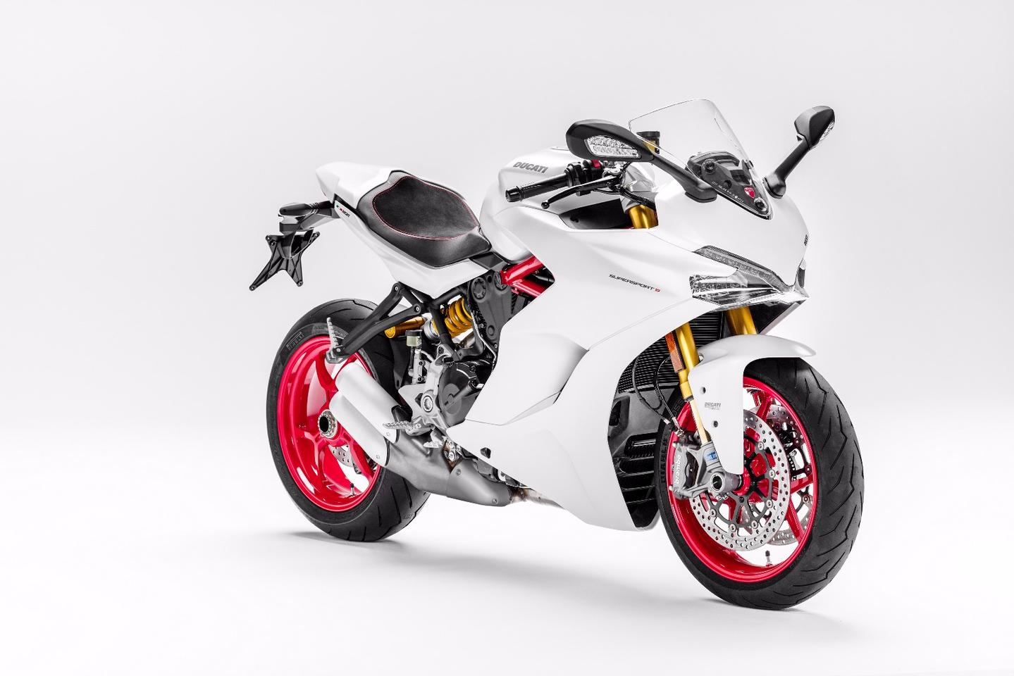 The 2017 Ducati SuperSport S will be the only version available inStar White Silk color