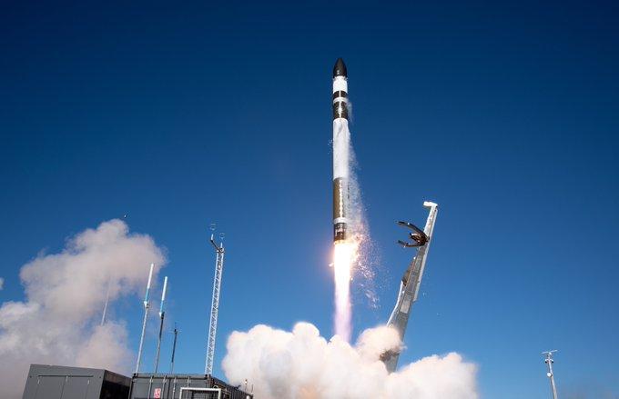 Rocket Lab's Electron rocket lifts off