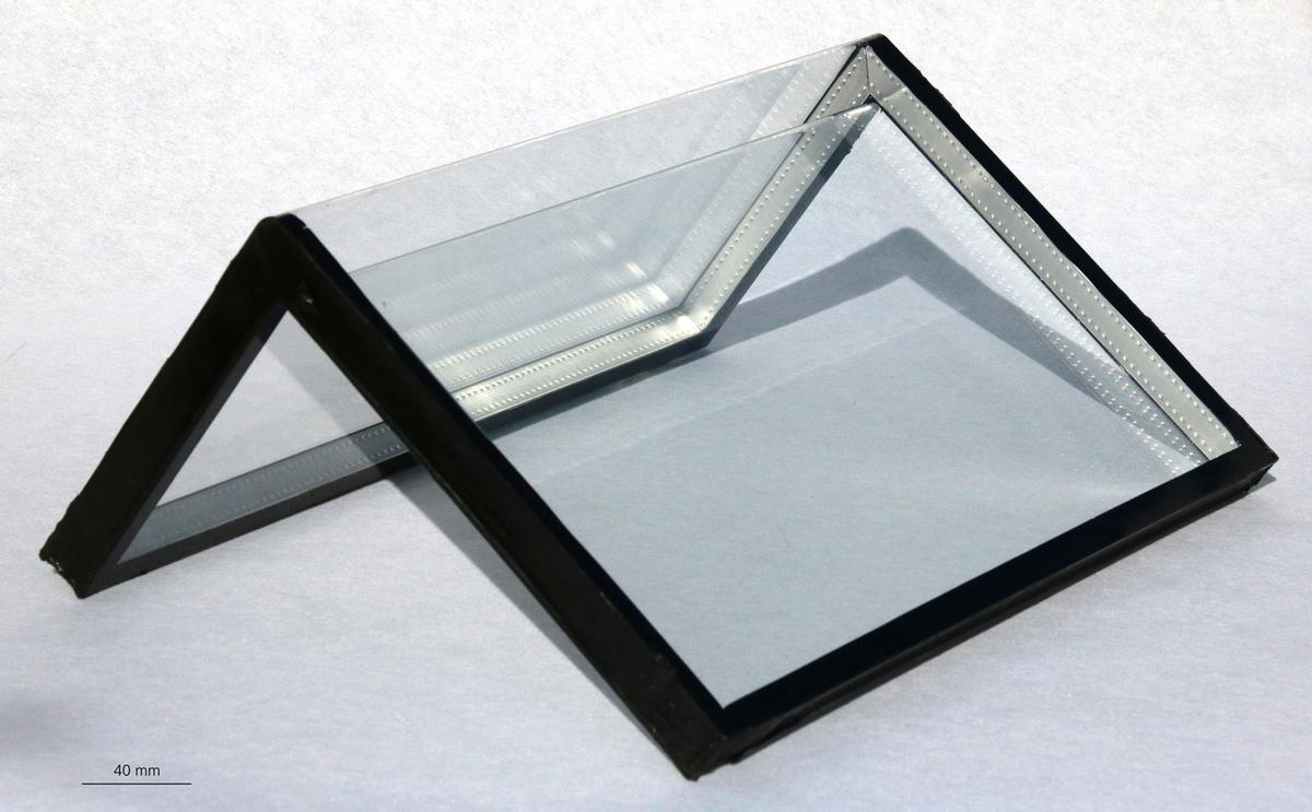 An insulating glass panel, created using the new process
