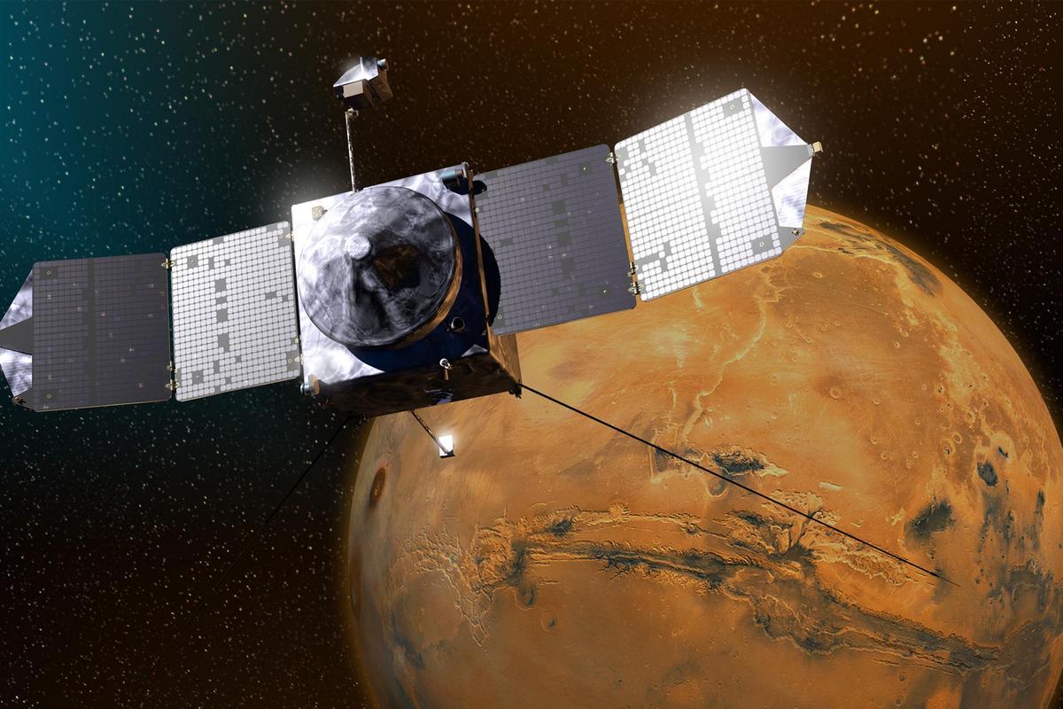 NASA's MAVEN has acted as a data relay for the Curiosity rover (Image: NASA)