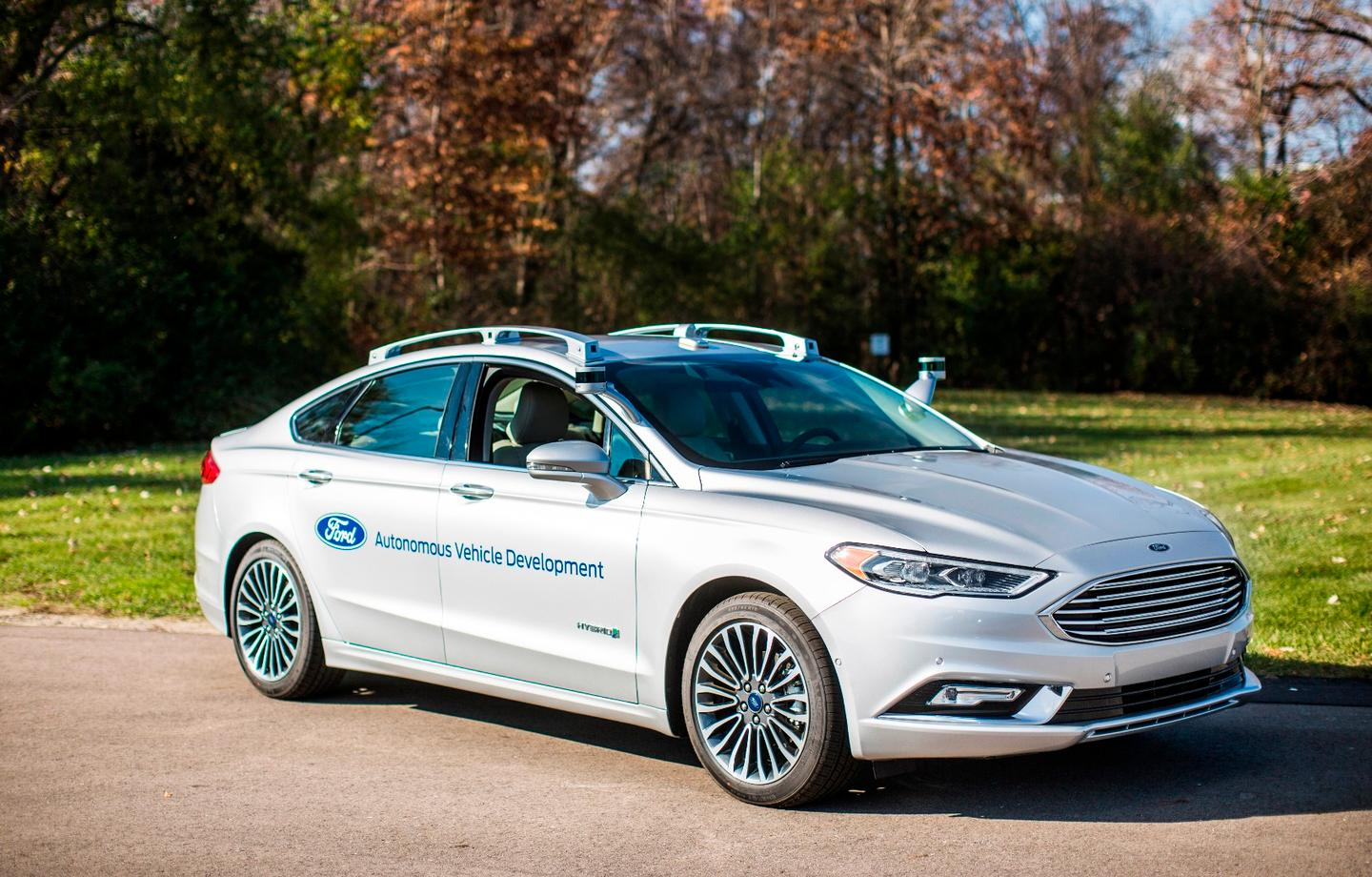 The new Ford Fusion Hybrid Autonomous Vehicle