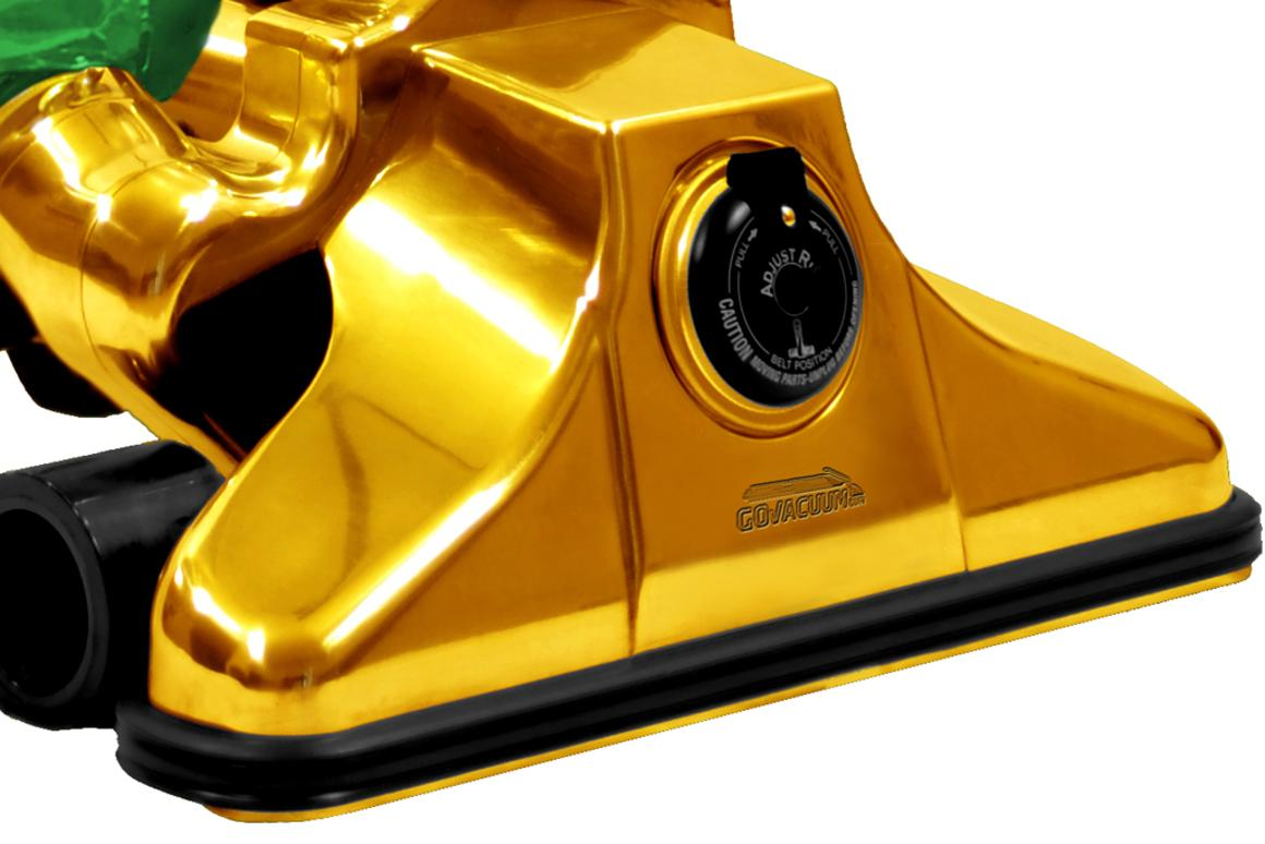 Every component of the GV62711 vacuum cleaner except for the bag, motor, and wheels is encased in 24k gold