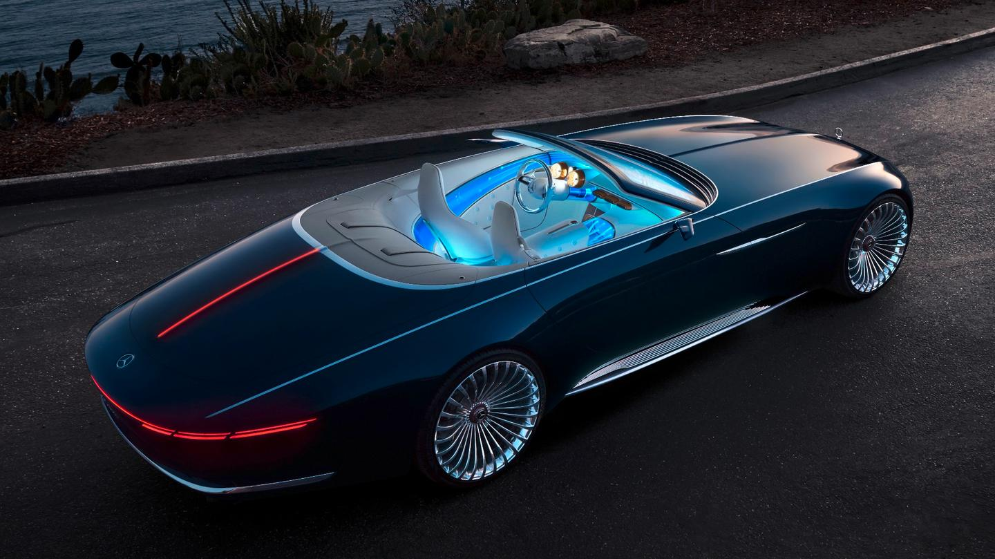The 2017 Vision Mercedes-Maybach 6 Cabriolet is the droptop version of the Vision Mercedes-Maybach 6 Coupé presented at Pebble Beach in 2016