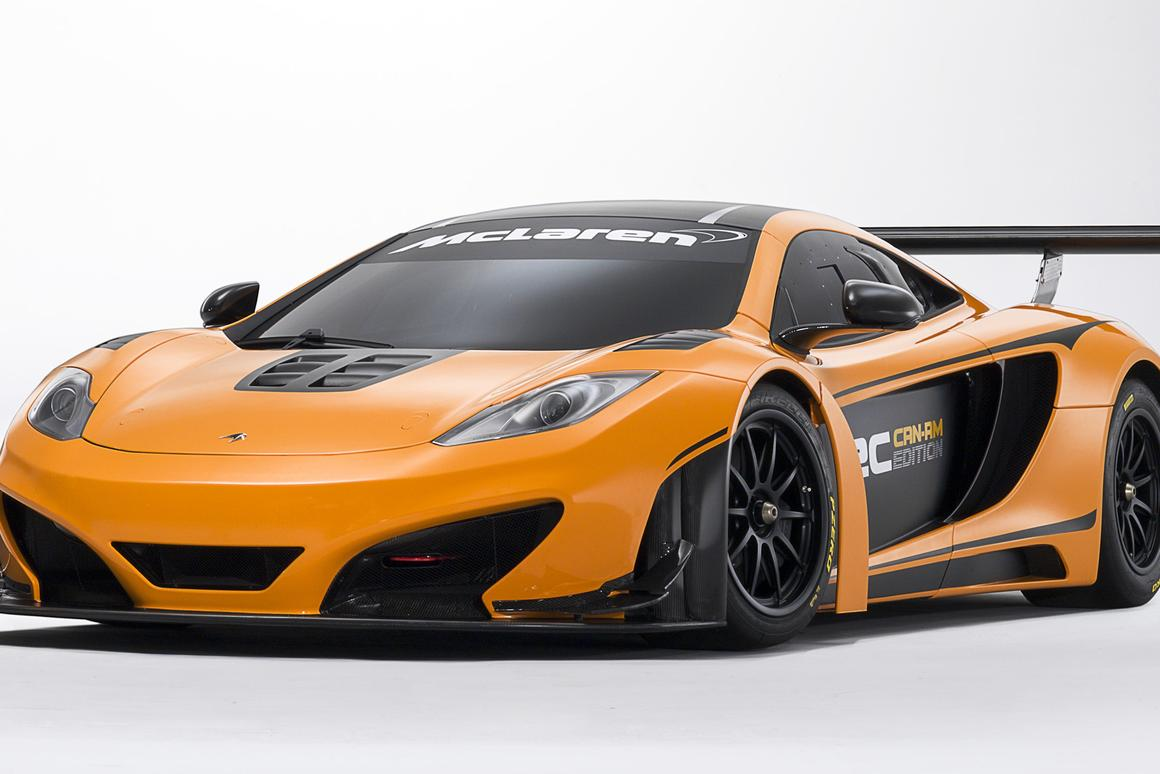 The McLaren 12C Can-Am Edition racing concept that will be shown at Pebble Beach Concours d'Elegance