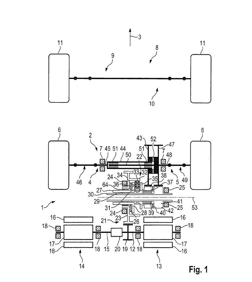 Electric Porsche 2WD layout