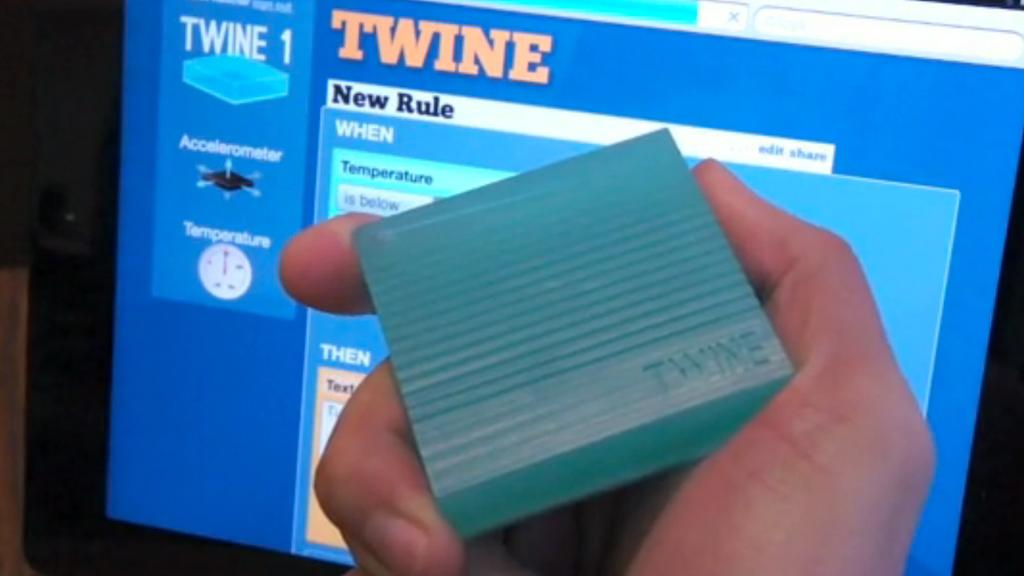 Twine can be monitored and set up to send messages via a simple Web-based application