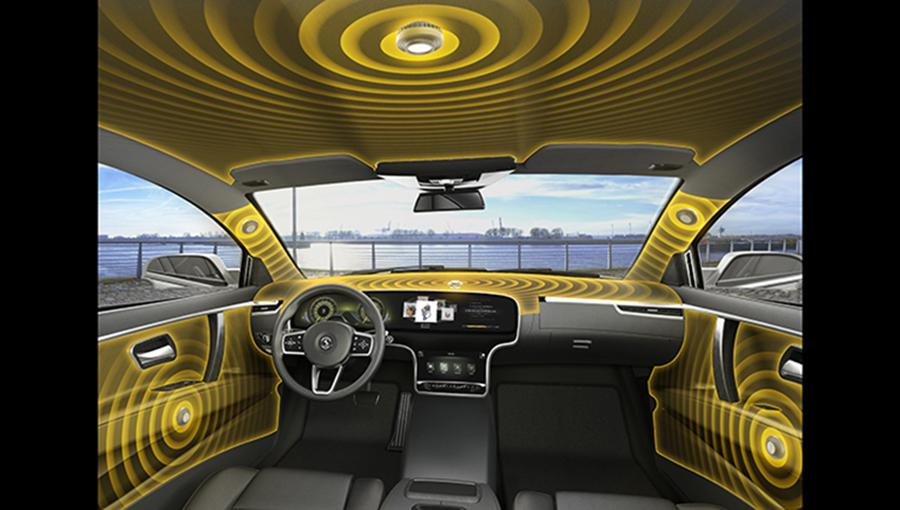A visual representation of how Continental wants to make speakerless interiors