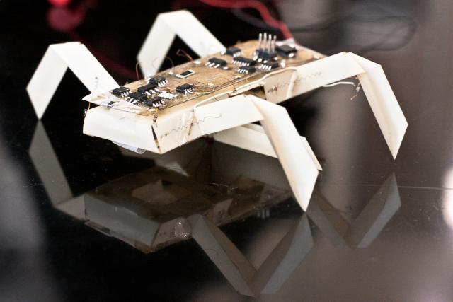 """An MIT-led research team has already created this insect-like """"printed"""" robot as an example of what could be made for consumers, in a matter of hours"""