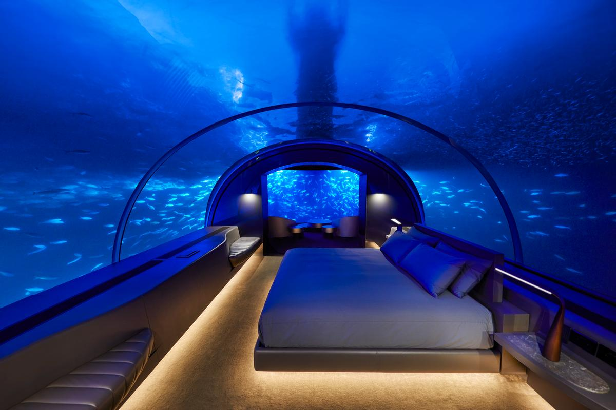 Room with an (underwater) view: guests at the Muraka will be given curated menus and have their own butlers available 24 hours a day