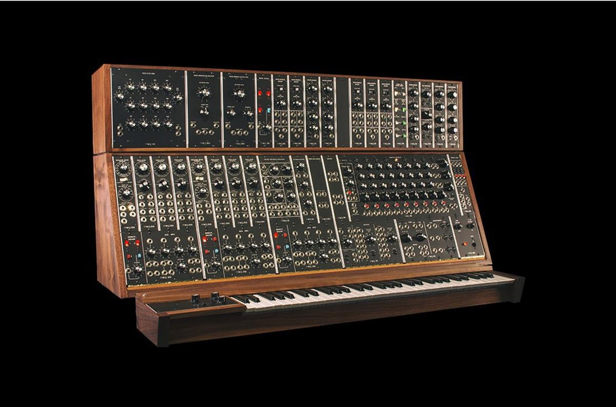 Moog is restarting limited production of three of its classic large format, modular synthesizers: the System 35, the Model 15, and the System 55, shown here with optional keyboard