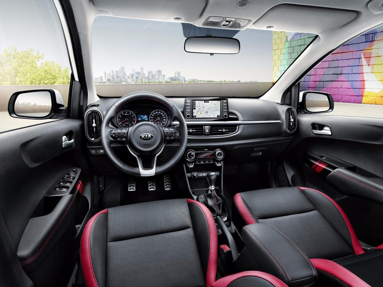 "A new ""floating touchscreen"" is the heart of the revamped interior for the new Kia Picanto"