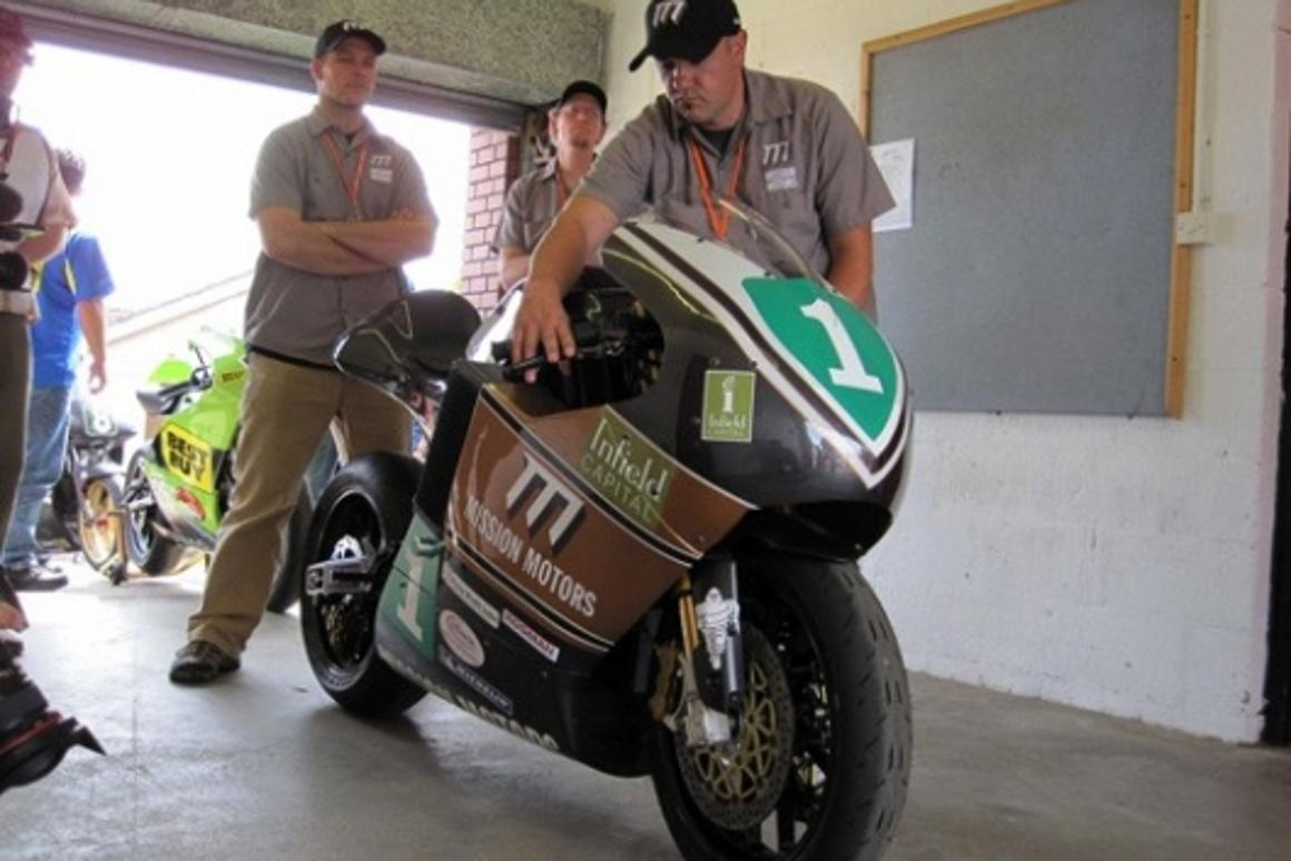 The Mission One electric superbike at the Isle of Man TT 2009