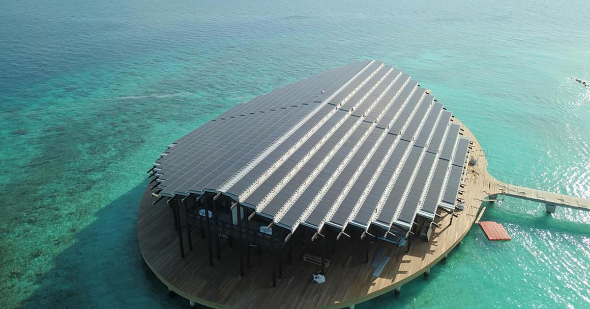 Impressive solar-powered island resort opens in the Maldives
