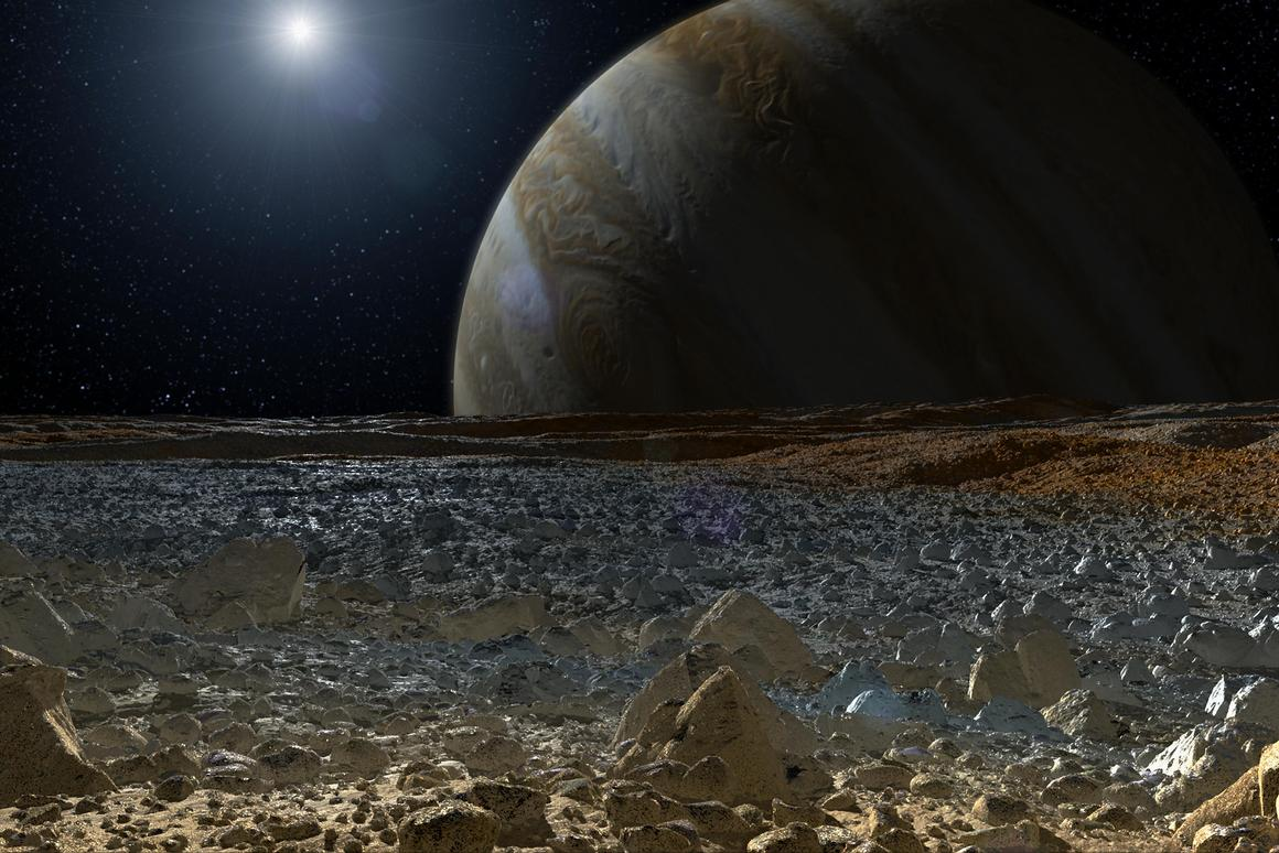 Artist's impression of the surface of Europa (Image: NASA)