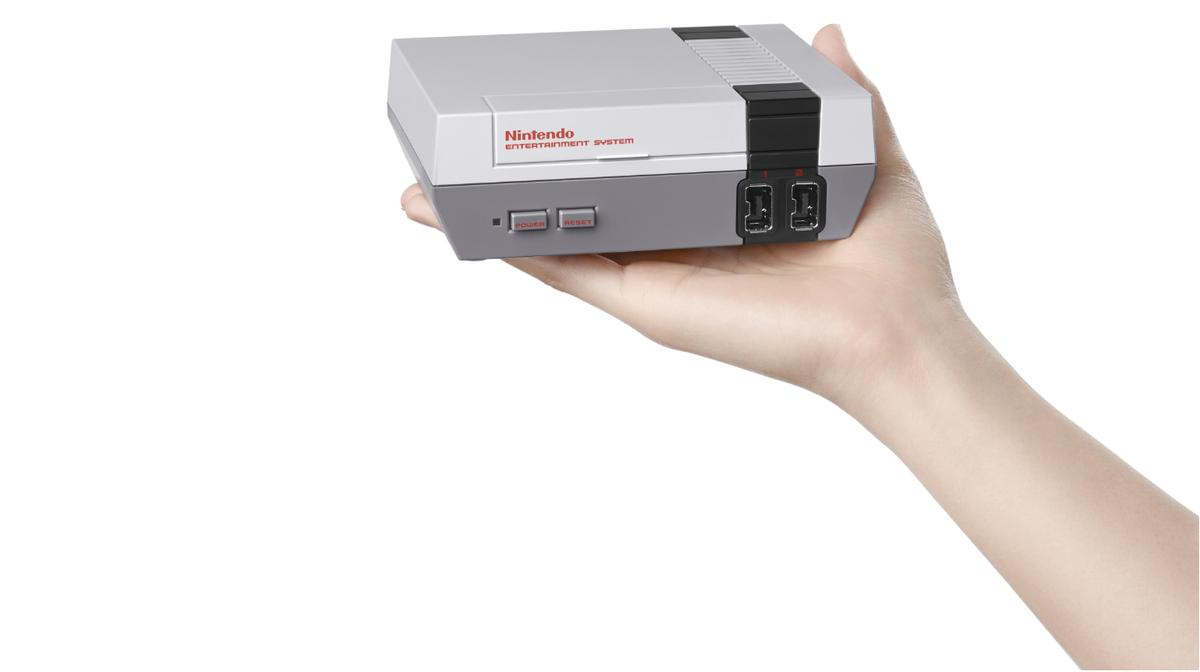 The Classic Miniis a mini replica of the NES and comes with 30 NESgames built in